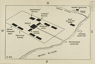 York Factory - Map of York Factory 1840.