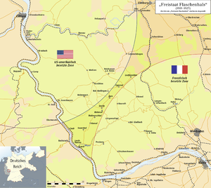 Free State Bottleneck - Image: Map of the Freistaat Flaschenhals (1919 1923)