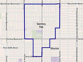 Gramercy Park, Los Angeles Neighborhood of Los Angeles in California, United States
