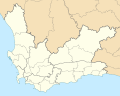 Map of the Western Cape with municipalities blank (2011).svg