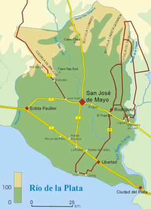 San José Department - Map of San José Department