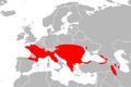 Mapa Zamenis longissimus.png