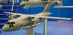 Ilyushin Il-112 - A model of the Il-112 concept at the MAKS in 2009.