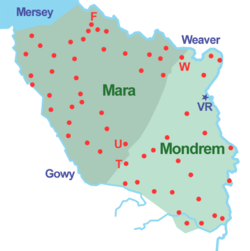 Map showing the location of Forests of Mara and Mondrem