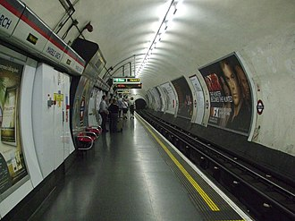 Marble Arch tube station - Image: Marble Arch stn westbound look east