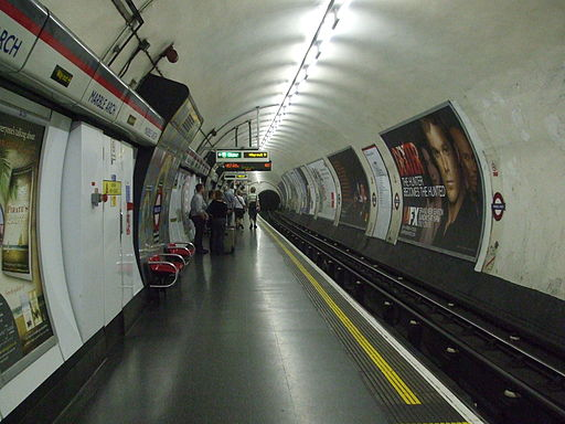 Marble Arch stn westbound look east