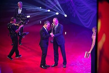Marcel Koller Gala Nacht des Sports Österreich 2015 a Herbert Prohaska Mirjam Weichselbraun Rainer Pariasek.jpg