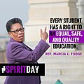 Marcia Fudge on Spirit Day 2016.jpg