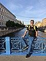 Marek Kamiński w trakcie wyprawy No Trace Expedition, Sankt Petersburg, Rosja 2018 r., Archiwum Instytutu Marka Kamińskiego.jpg