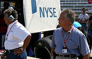 Aldo Andretti - Mario and Aldo watch Team Andretti-Green on Indy Pole Day, 2007.