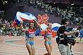 Mariya Savinova and Ekaterina Poistogova - Womens 800m - 2012 Olympics.jpg