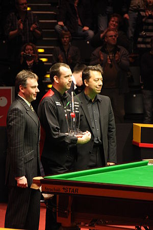 2011 German Masters - Image: Mark j. Williams winning German Masters 2011
