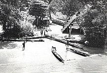 Suriname-History-Maroon village, Suriname River, 1955