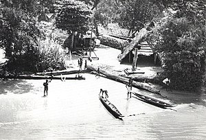 Suriname - Maroon village, along Suriname River, 1955