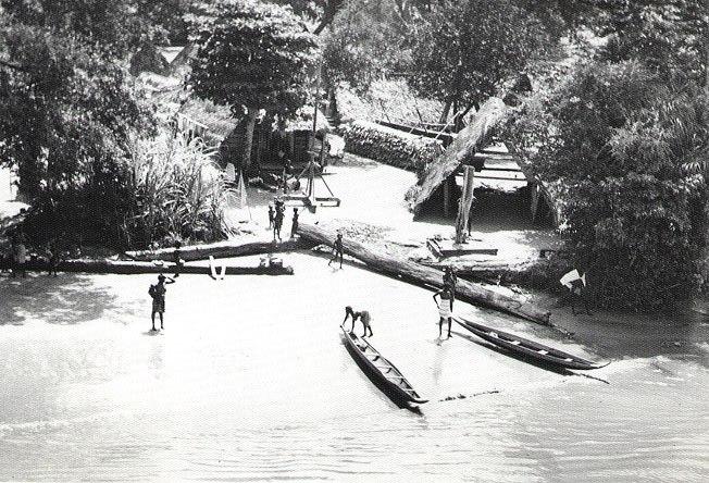 Maroon village, Suriname River, 1955