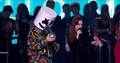 Marshmello and Lindsay Lohan at EMA 2018.png
