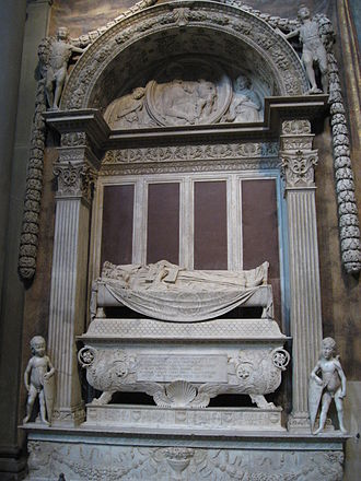 Carlo Marsuppini - Tomb of Carlo Marsuppini in the Basilica Santa Croce in Florence.