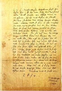 Eigenhändiger Brief Luthers an Kurfürst Johann den Beständigen, Juli 1531[35] (Briefsammlung Biblioteca Apostolica Vaticana, Ottob. Lat. 3029, fol. 4r) (Quelle: Wikimedia)