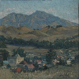 """Mary Agnes Yerkes - """"Mt. Diablo"""" by Mary Agnes Yerkes, circa 1920s, oil on canvas."""