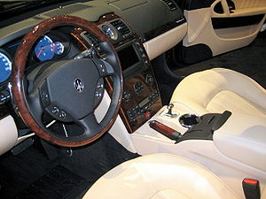 Interior of a Maserati Quattroporte Executive GT.