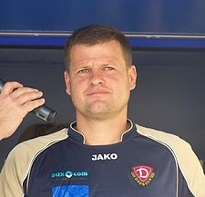 Matthias Maucksch made 118 Bundesliga appearances for Dynamo, more than any other player, and was manager of the club from 2009 to 2011. Matthias Maucksch.jpg