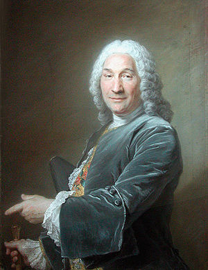 René Frémin - Portrait of René Frémin, Sculptor by Maurice Quentin de La Tour, the Louvre, 1743