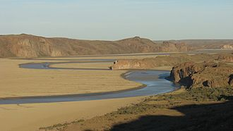 Deseado River - Meandering of the Deseado River
