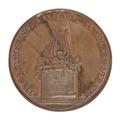 Medalj med bild av lyra och lagerkvist - Skoklosters slott - 99291.tif