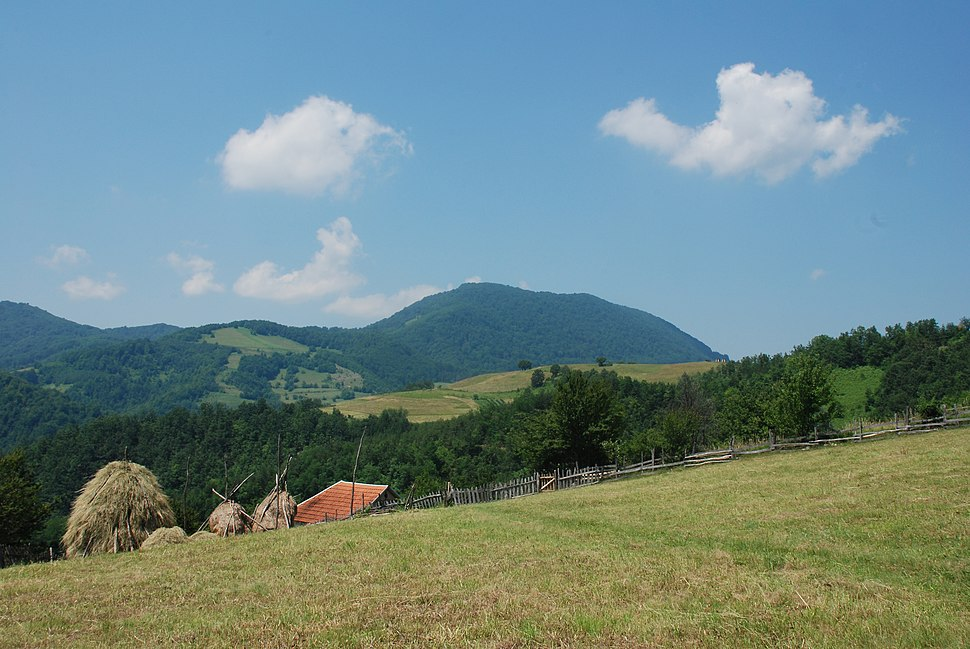 Medvednik - zapadna Srbija - selo Rebelj - mesto Vreoci - pogled na obronke i vrh planine Medvednik 3