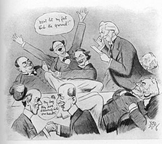 Edward Tennyson Reed - Meeting of Asquith cabinet by E T Reed, Punch, 1909