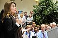 Melinda Gates speaks to staff at DFID.jpg