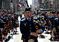 Members of the U.S. Coast Guard Pipe Band march up Fifth Avenue in the 250th St. Patrick's Day Parade, Manhattan, N.Y., March 17, 2010.jpg