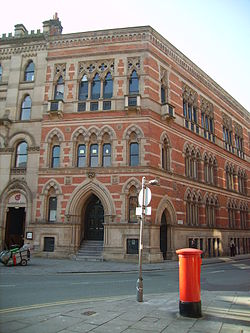 Memorial Hall on Albert Square, Manchester Memorial Hall, Albert Square 2.JPG