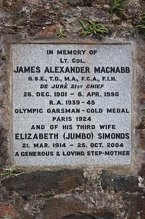 James MacNabb - Memorial to James Alexander MacNabb, Old MacNabb Burial Ground, Killin