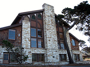 Julia Morgan - Merrill Hall (1928) on the grounds of Asilomar Conference Center in Pacific Grove, California