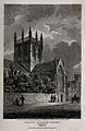 Merton College, Oxford; chapel. Line engraving by J. Storer, Wellcome V0014132.jpg
