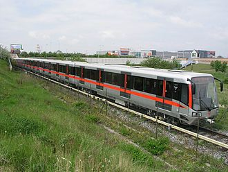 Prague Metro - Metro M1 on a test track, Prague