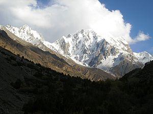 Miar Peak - Seen from east of the Barpu Glacier