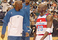 0e8f79d2625 Jordan como membro do Washington Wizards em 4 de agosto de 2004