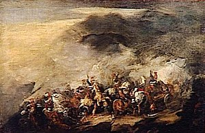 Piotr Michałowski - Image: Michalowski La bataille de Somosierra (1808)
