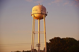 Michie, Tennessee - Water tower in Michie