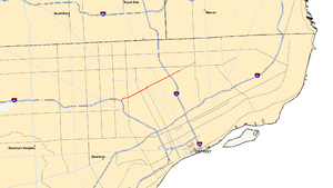 M-8 (Michigan highway) - Image: Michigan 8 map