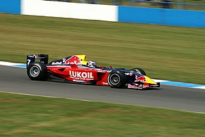 Mikhail Aleshin - Aleshin driving for Carlin Motorsport at the Donington Park round of the 2007 Formula Renault 3.5 Series season.