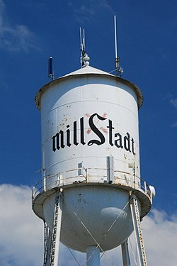 Millstadt Water Tower, no longer used