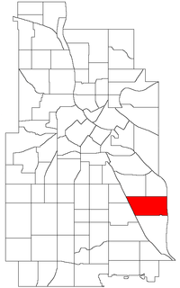Location of Howe within the U.S. city of Minneapolis