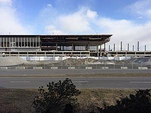 Montréal–Mirabel International Airport - Terminal demolition in progress