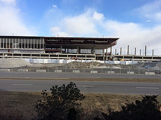 Montréal–Mirabel International Airport - Terminal demolition in progress