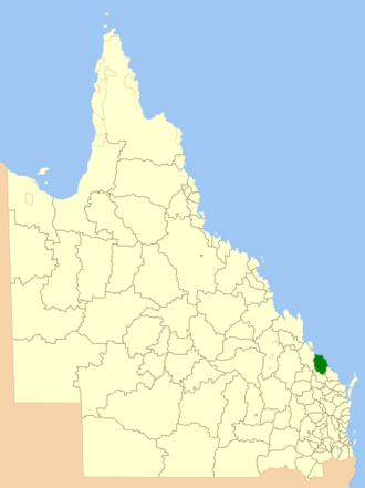 Shire of Miriam Vale - Location within Queensland