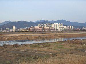 Miryang - Image: Miryang from west 4