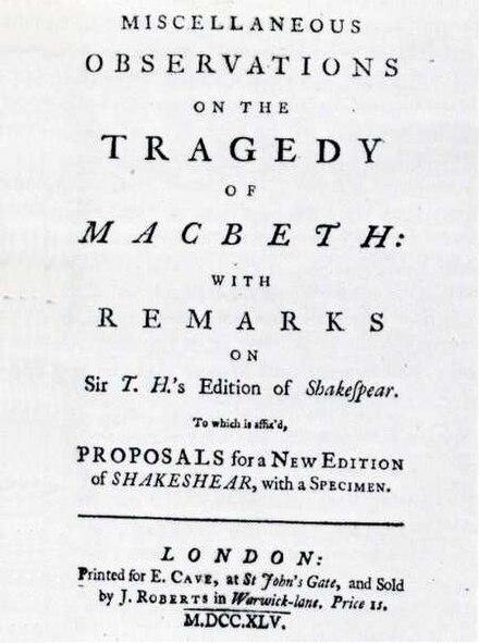 samuel johnson hamlet essay Samuel johnson on shakespeare has 27 ratings and 4 reviews jackson said: dr johnson's criticism of shakespeare never borders on bardolatry, but remains.